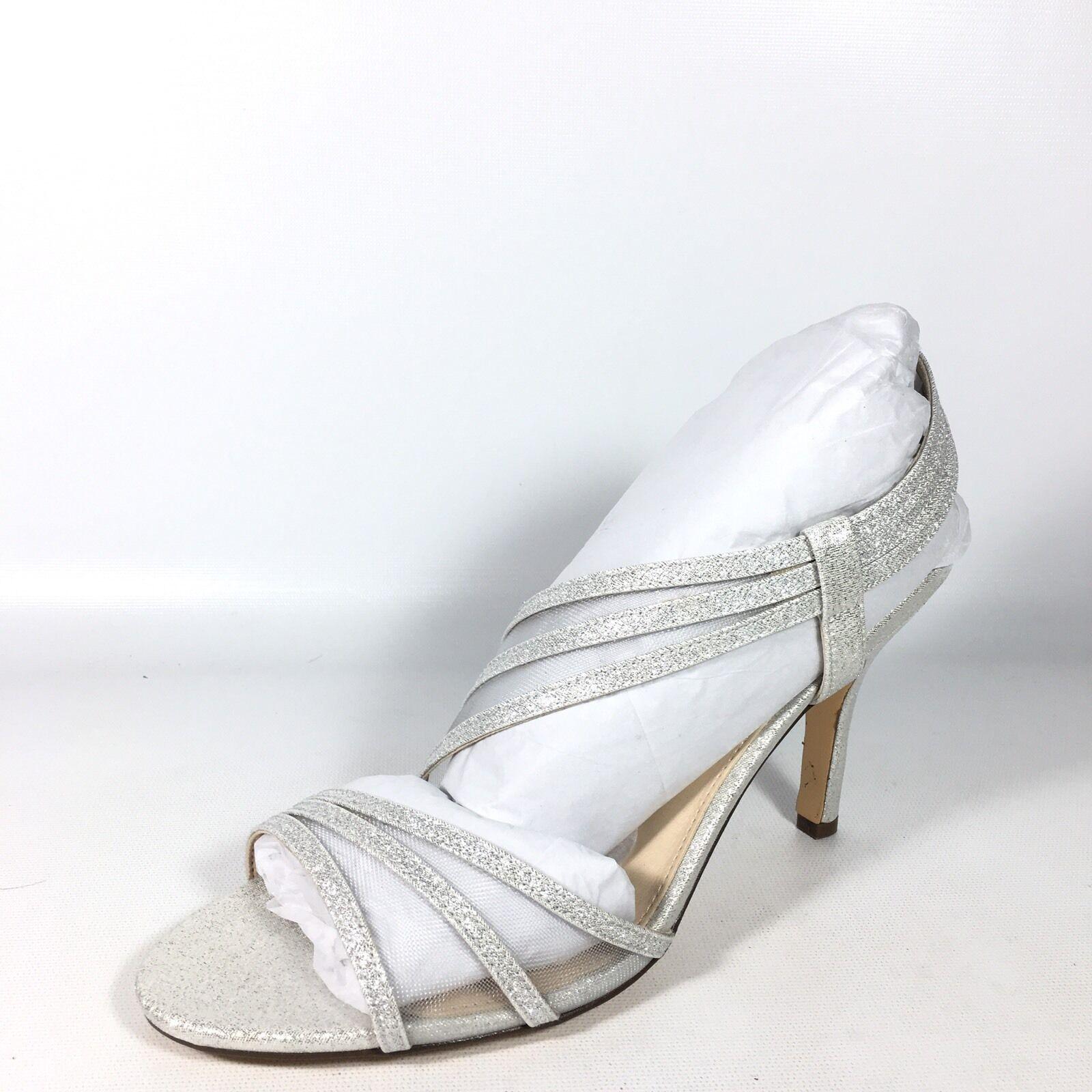 Nina  Vitalia  Women's 8 M Silver Wonderland Formal Dress Sandal Heels