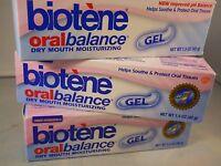 Biotene Oral Balance Dry Mouth Moisturizing Gel 1.5 Oz Each (3pks) Exp 2019