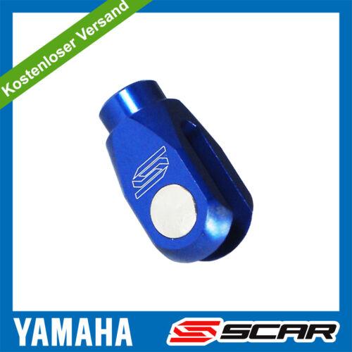 Einsteller Hinterradbremse YAMAHA YZ 125 YZF 250 450 WRF YZ250F YZ450F BLAU SCAR