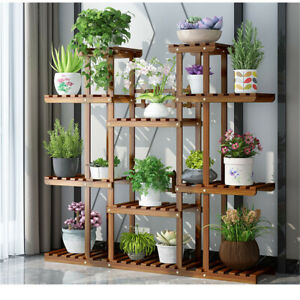 Wooden-Plant-Stand-11-Tier-Flower-Pot-Display-Shelf-Storage-Rack-for-Living-Room