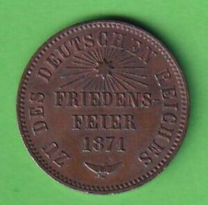 Cu-1-Kreuzer-1871-Baden-Friedrich-I-Friedensfeier-AKS-140-stampsdealer