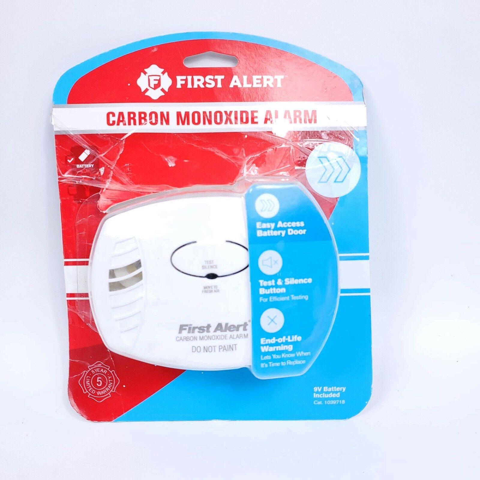 New! FIRST ALERT Battery Electrochemical Carbon Monoxide Alarm 1039718