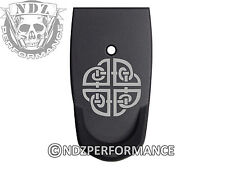 for Smith Wesson SHIELD 9mm 40 Grip Extension Mag Plate BK Celtic Shield