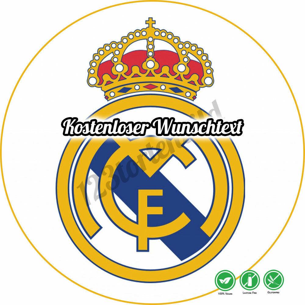 Tortenaufleger Geburtstag Tortenbild Zuckerbild Oblate Real Madrid
