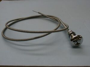 1955-59 Chevy Truck Throttle Cable With Chrome Knob