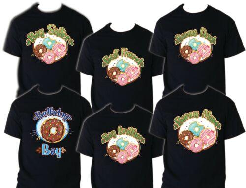 Donut Birthday T Shirt Birthday Matching T-shirts Party Family Kid Reunion Choc