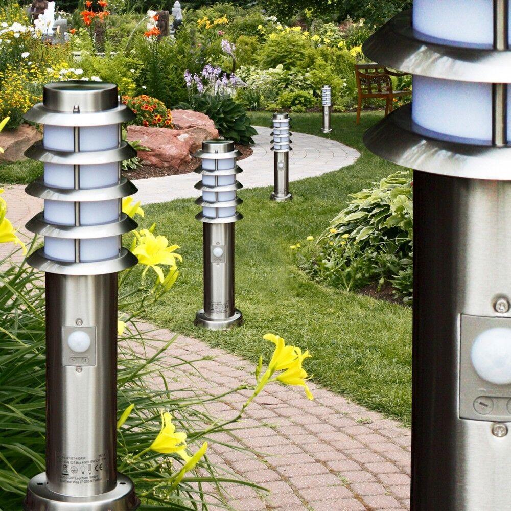 Lampioncino lampada da terra esterni segnapasso con sensore di movimento 142232