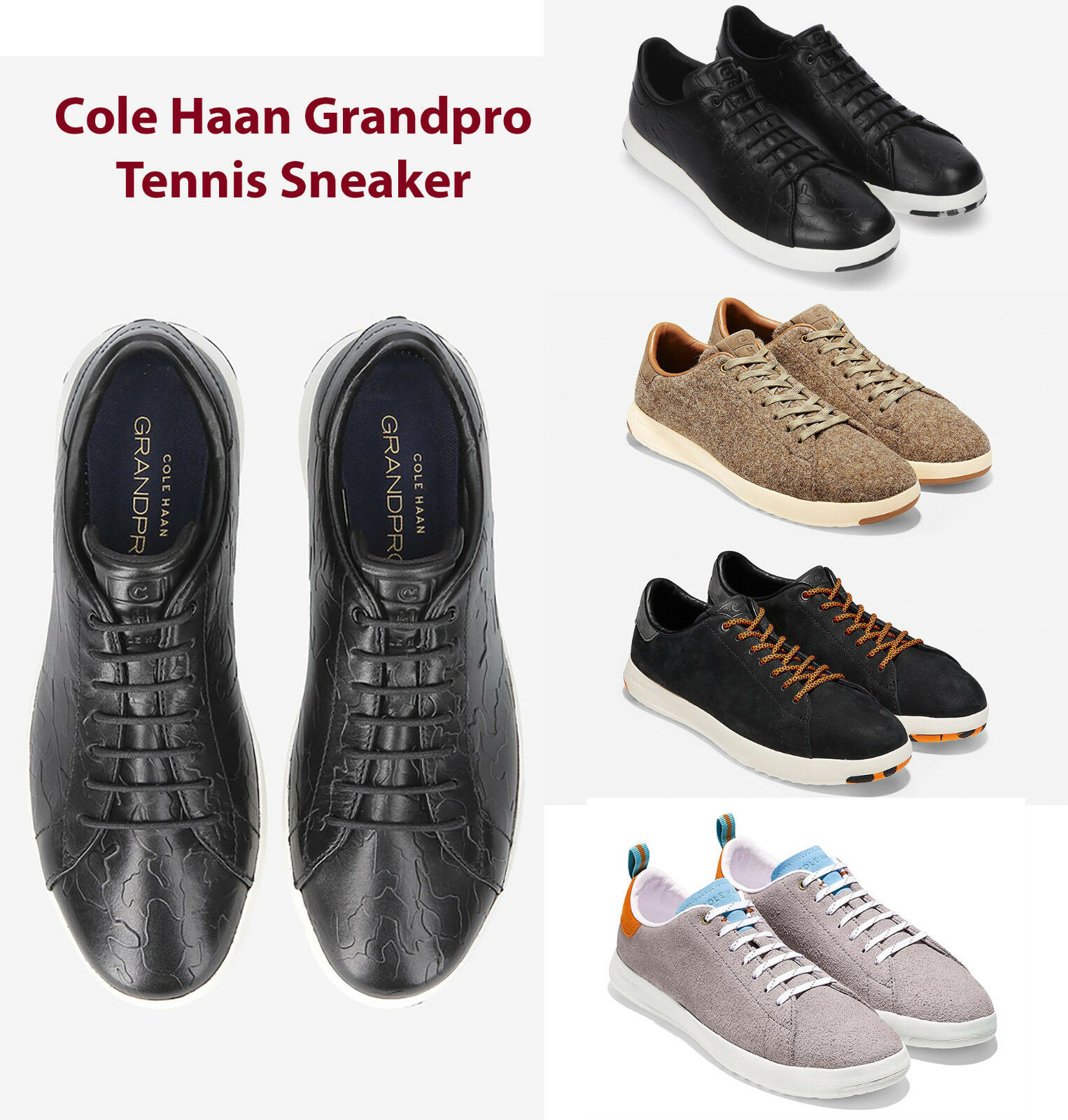 dd4f13aa0a678f Cole Haan Tennis shoes Leather Sneakers Authentic NEW Mens GrandPro ...