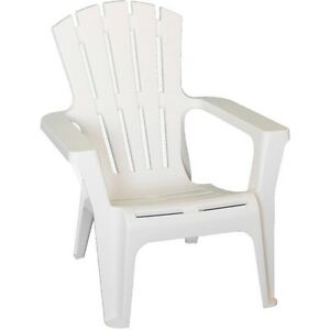 Image Is Loading White Outdoor Polypropylene Durable Outdoor Adirondack  Chair All