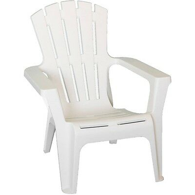 Enjoyable White Outdoor Polypropylene Durable Outdoor Adirondack Chair All Weather Proof Ebay Gmtry Best Dining Table And Chair Ideas Images Gmtryco