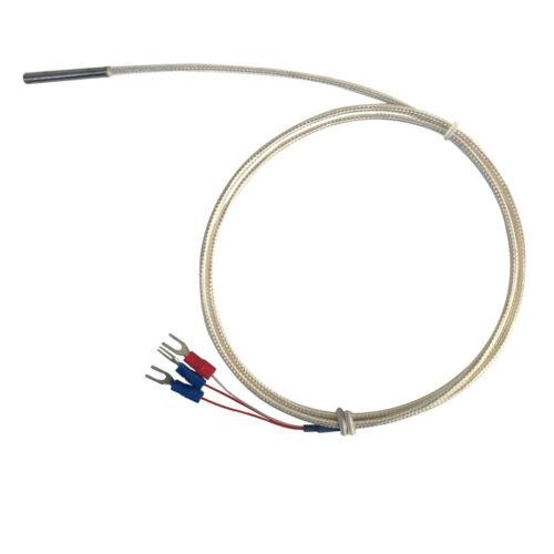 New 50-200℃ PT100 Platinum Resister Temperature Sensor Probe Waterproof 1m