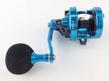 Omoto Shogun S9 MIT Blue Fishing Jigging Reels Left Handler Special Edition