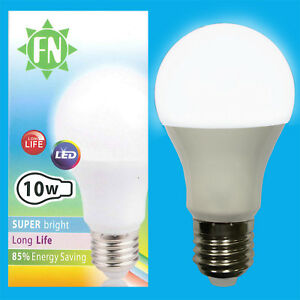 1x-10w-a60-GLS-ES-e27-6500k-Tageslicht-Weiss-frosted-LED-Gluehbirne-Lampe