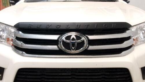 Front Bonnet Trim Cover Matte Black Toyota Hilux Revo SR5 M70 UTE 2015 2016-17