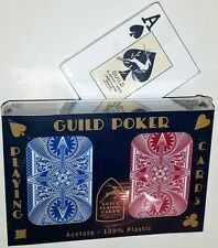 GUILD Arc and Arrow Red & Blue Poker Jumbo Index Playing Cards Free Shipping