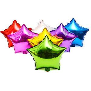 50pcs 10 foil star balloon helium metallic party wedding decoration image is loading 50pcs 10 034 foil star balloon helium metallic junglespirit Gallery