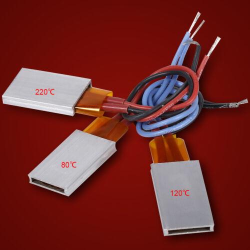 AC//DC PTC Thermostatique Aluminum Shell Plaque chauffante Temperature Heater