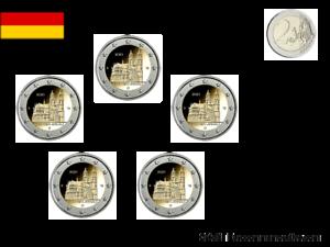 2 Euros x 5 Ateliers Commémorative Allemagne Lander Sachsen Anhalt 2021 UNC