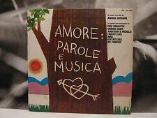 MINA / GABER / LEALI / BONGUSTO etc. - AMORE PAROLE E MUSICA LP VG+/G+ RIFI 1967