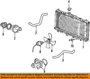 honda oem 88 93 civic engine water pump 19200p01004 ebay rh ebay com  93 honda civic engine harness diagram