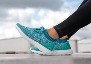 4db89b39065a7 Image is loading Adidas-Womens-UltraBoost-Uncaged -Running-Shoes-Trainers-Blue-