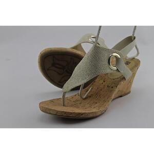 ea815485ec67 White Mountain Aida Women US 8 Gold Wedge Heel Pre Owned 1552 for ...