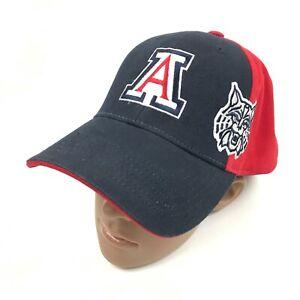 ARIZONA WILDCATS Strapback Baseball Cap One Size Embroidered AZ Cotton Embroider