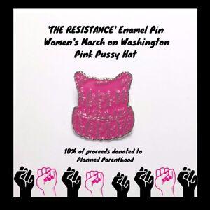 Image Is Loading  The Resistance  Enamel Pin Women