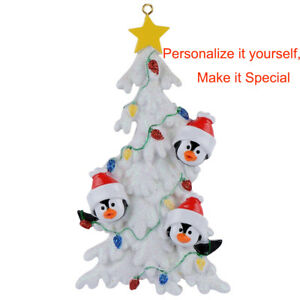 Penguin-Family-of-3-4-5-6-White-Personalized-Christmas-Tree-Ornament-2019