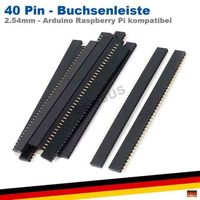 10stk zweireihig 2x40 Pin Buchsenleiste Steckerleiste 2.54mm weiblich Buchse pcb