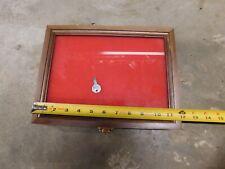 Wood Hinged Glass Front Locking Display Case