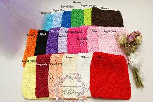 1 Crochet top tube, DIY tutu dress supply baby girl pettitskirt bodice waistband