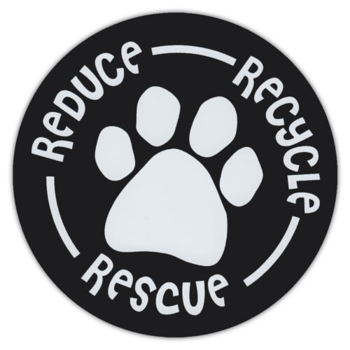 """RECYLECars Trucks RESCUE DOGSREDUCE 4.75/"""" Round Pet Magnets"""