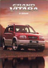 Suzuki Grand Vitara 5-dr 1999-2000 UK Market Sales Brochure 2.5 V6 2.0 TD