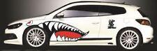"43"" Full Size Flying Tigers Shark Teeth  High Quality Die-cut Vinyl Decals 4 doo"