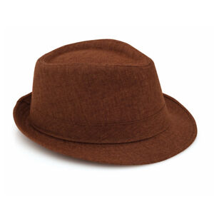 7e71d6eb5ab86 Details about Unisex Trilby Gangster Blues Vintage Bowler Style Panama  Fitted Hat Sun Beach UK