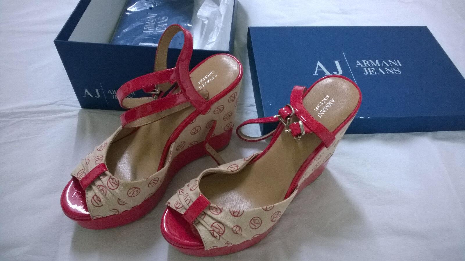 zapatos ARMANI JEANS sandali con zeppa 39