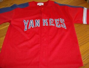 super popular 97e57 7ad0e Details about NEW YORK YANKEES - Authentic STARTER Baseball Jersey Red  White Blue Youth Med