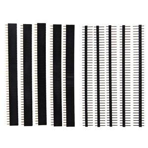 5-PCS-40-Pin-2-54mm-Single-Row-Straight-Male-Female-Pin-Header-Strip-DT