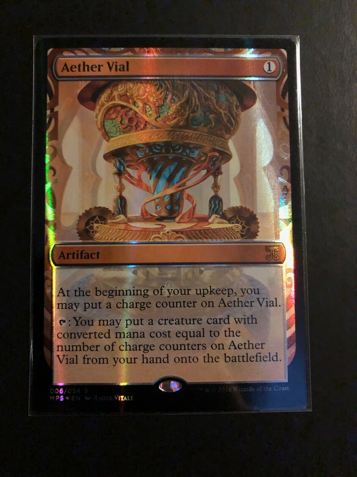 Magic Magic Magic the Gathering   Aether Vial Masterpiece Invention from Kaladesh c24c1d