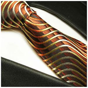 Braune Seidenkrawatte 751 Elegant Im Geruch Verantwortlich Paul Malone Krawatte Braun Gold Gestreift Seide Kleidung & Accessoires Krawatten & Fliegen