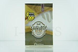 Full Box Twisted Hemp 15 Foil Pouch 4 Wraps Full Width per Plain Jane Natural