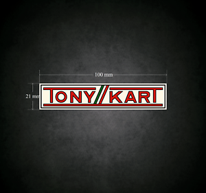 Karting TONYKART Sticker Go-Kart 100mm x 21mm Printed /& Laminated