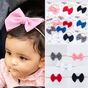 Baby-Girl-Hair-Band-Big-Bow-Headband-Turban-Knotted-Hair-Accessory-Head-Wraps