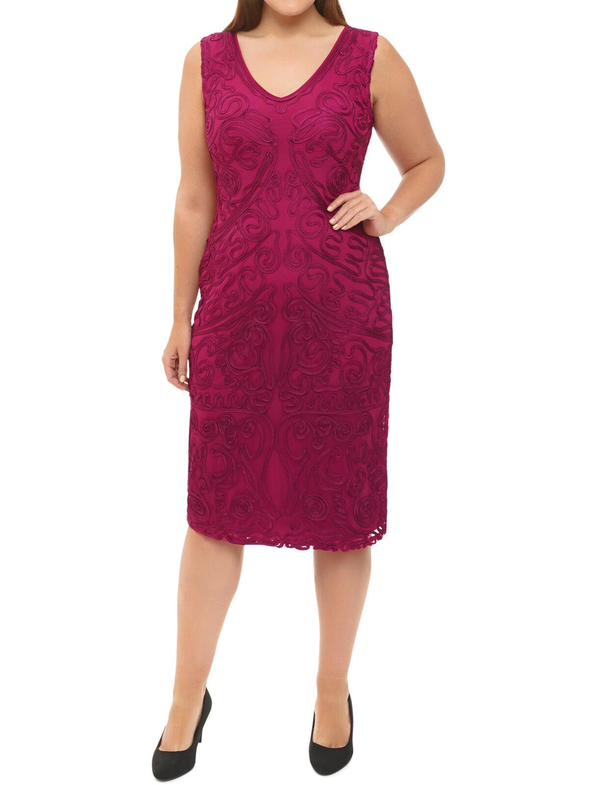 NEW GORGEOUS WINDSMOOR RASPBERRY Rosa CORNELLI  SLEEVLESS SHIFT DRESS UK12-24