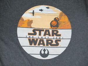 STAR-WARS-THE-LAST-JEDI-DROID-HILLS-GRAY-XL-T-SHIRT-F1277