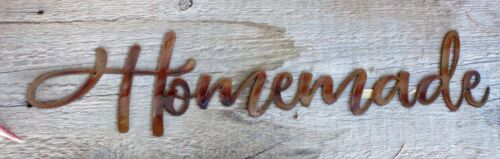 "Metal Wall Art Words.. Homemade Copper//Bronze Plated  18 1//4/"" x 4 1//2/"""