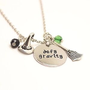 Image is loading WICKED-THE-MUSICAL-DEFY-GRAVITY-CHARMS-NECKLACE-THE-