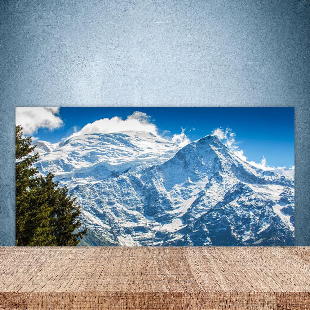 Vidrio Templado Cocina salpicaduras 100x50 Árbol Paisaje De Montaña