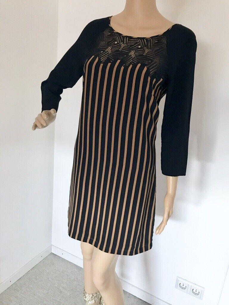 PATRIZIA PEPE robe soie Größe 36 IT 42